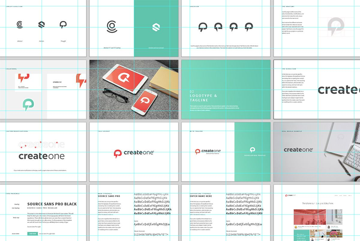 brand style guide template illustrator