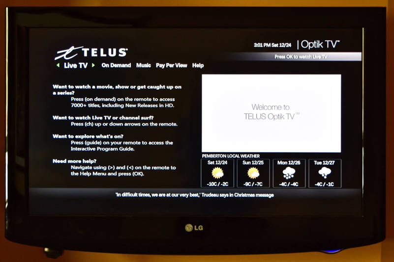 telus optik tv guide search