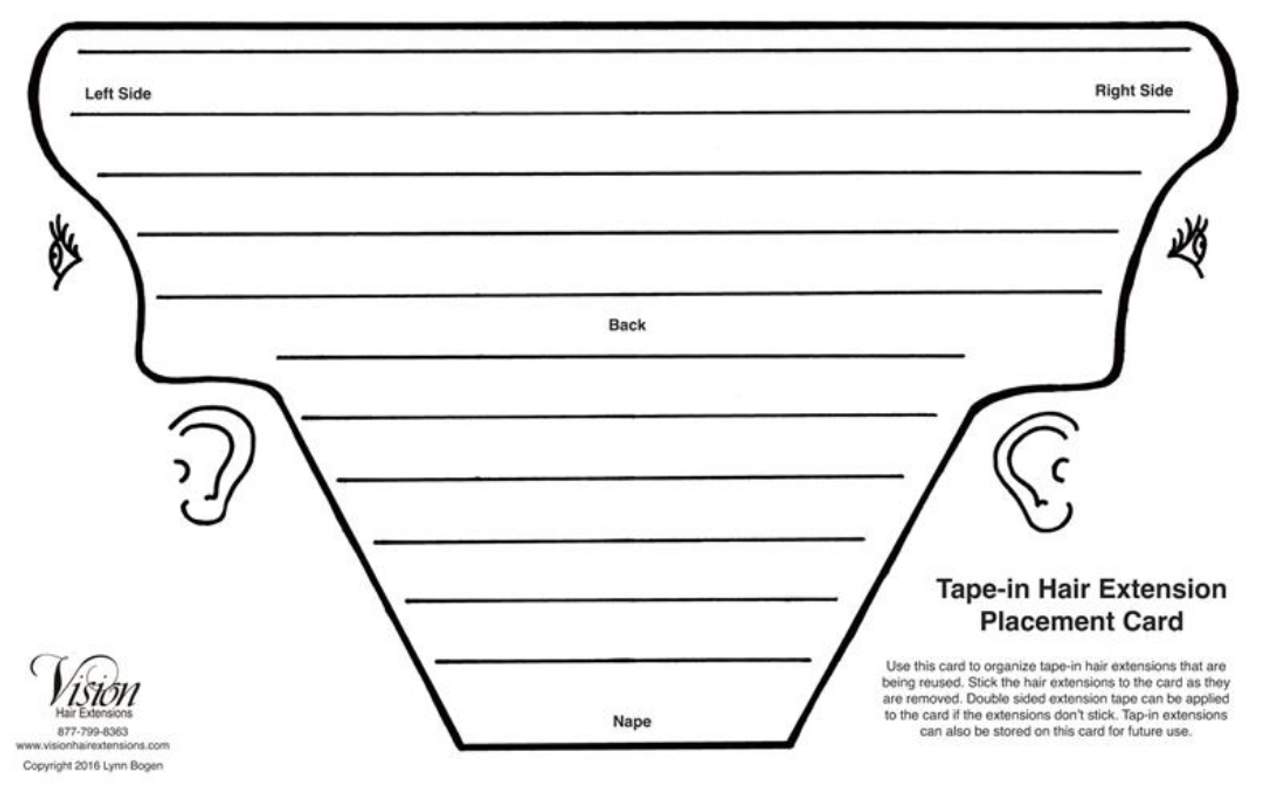 tape in extension placement guide