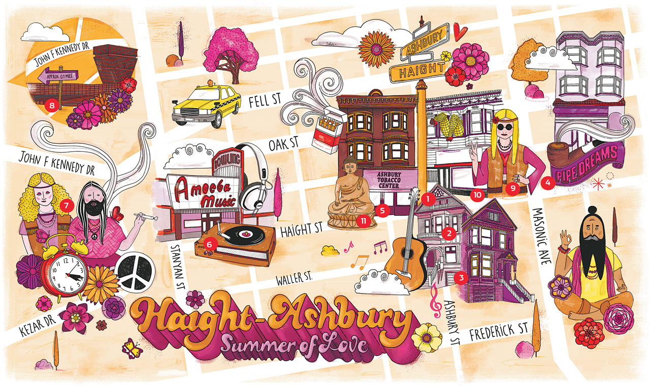 haight ashbury self guided walking tour